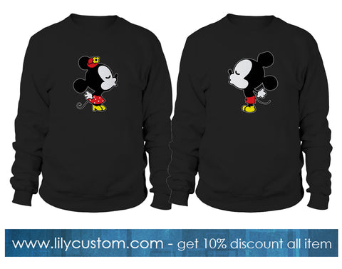 Mickey Minnie Mouse Cute Couple Sweatshirt