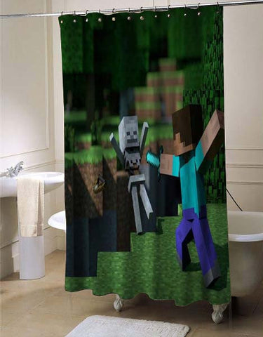 Minecraft custom shower curtain customized design for home decor