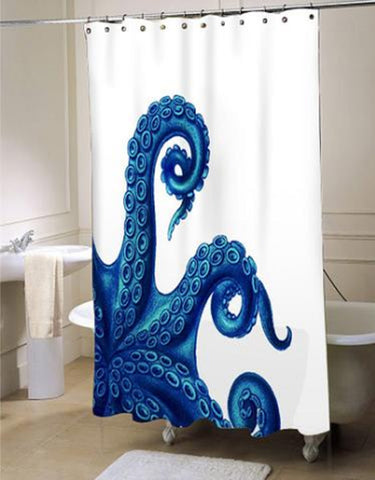 Octopus Tentacles Blue Shower Curtain (LIM)