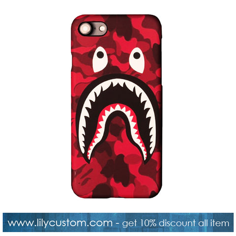 Red Shark Mouth Bape Phone Case