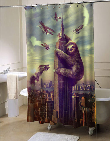 Slothzilla Shower Curtain Customized Design For Home Decor