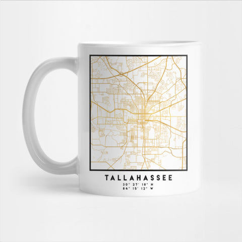 Tallahassee Florida Citty Street Map Mug (LIM)