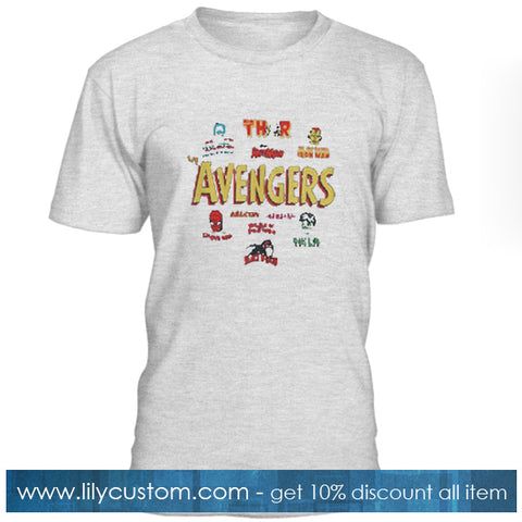 The Avengers Character T Shirt