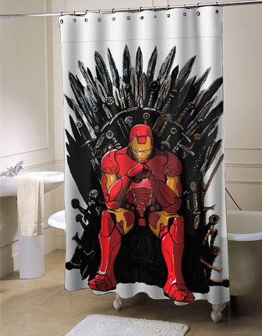 The Iron Man Throne shower curtain customized design for home decor