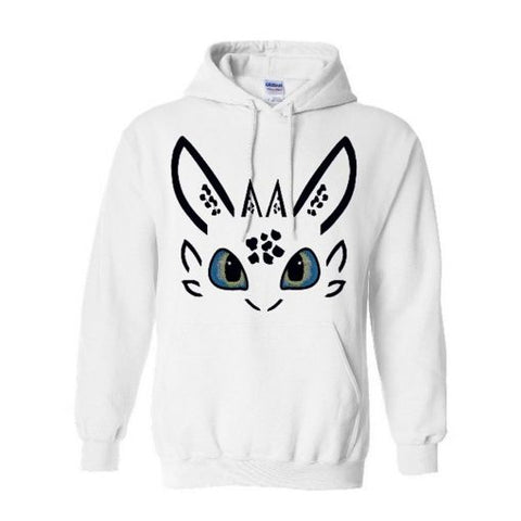 Toothless Dragon White Hoodie