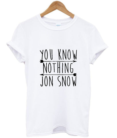 You Know Nothing Jon Snow T shirt