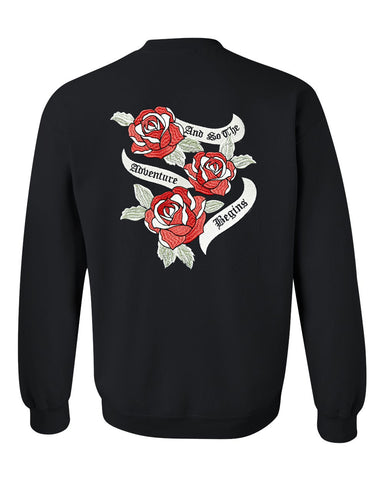 and so the adventure begins sweatshirt back