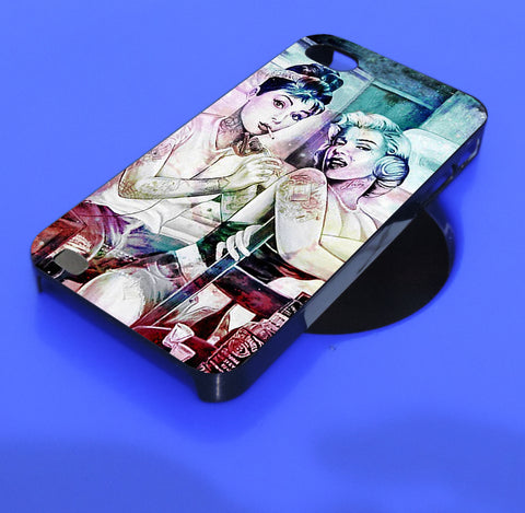 Audrey hepburn and marilyn monroe iPhone, iPod, and samsung galaxy case