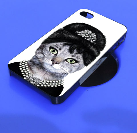 audrey hepburn cat_s4  iPhone, iPod, and samsung galaxy case