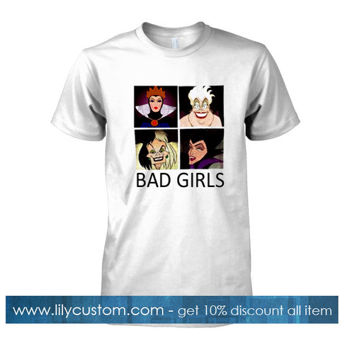 bad girls disney evil characters tshirt