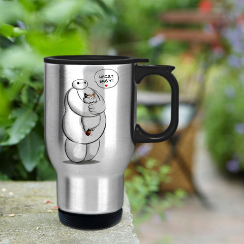 Baymax hairy baby hero Travel mug