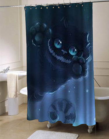 cheshire cat shower curtain customized design for home decor