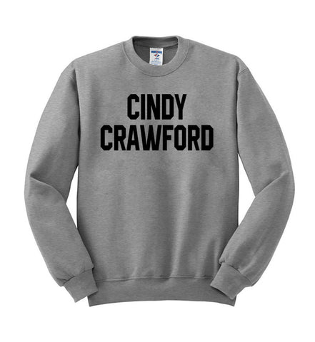 cindy crawford sweatshirt