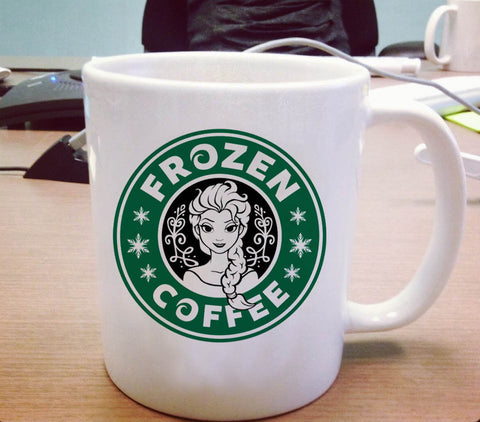 Disney frozen starbucks logo Ceramic Mug