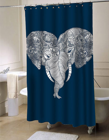 elephant punch trunk love shower curtain customized design for home decor