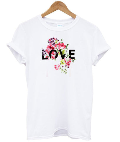 flower love T shirt