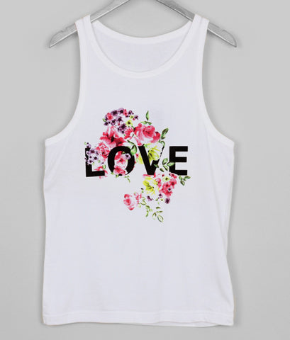flower love tank top