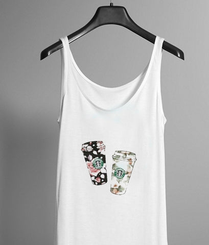 flower starbucks tanktop