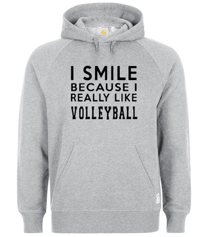 i smile because i really like volleyball hoodie