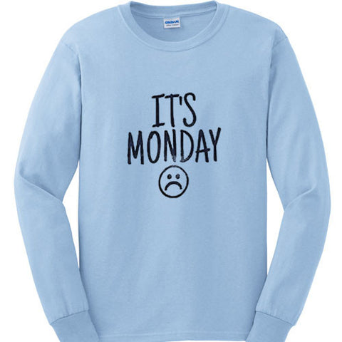 its monday sweatshirt sky blue sweatshirt