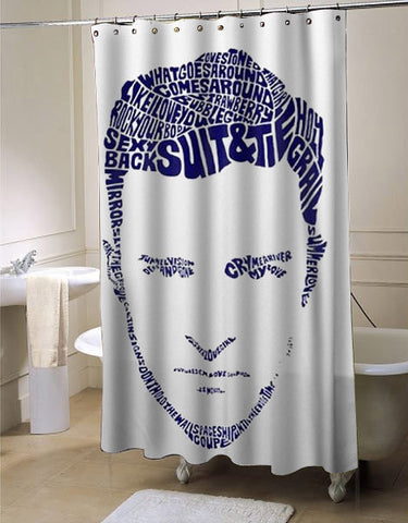 justin timberlake shower curtain customized design for home decor