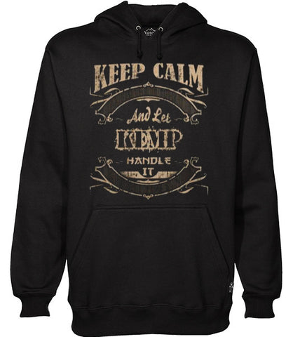 keep calm and let kemp handle it hoodie