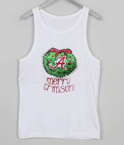 merry crimson tank top