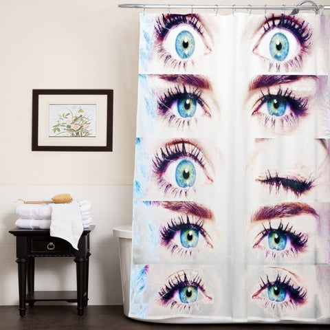 miley cyrus eyes shower curtain customized design for home decor