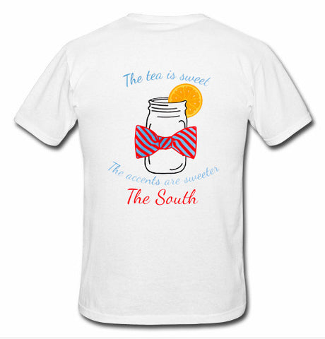 the tea is sweet t shirt back