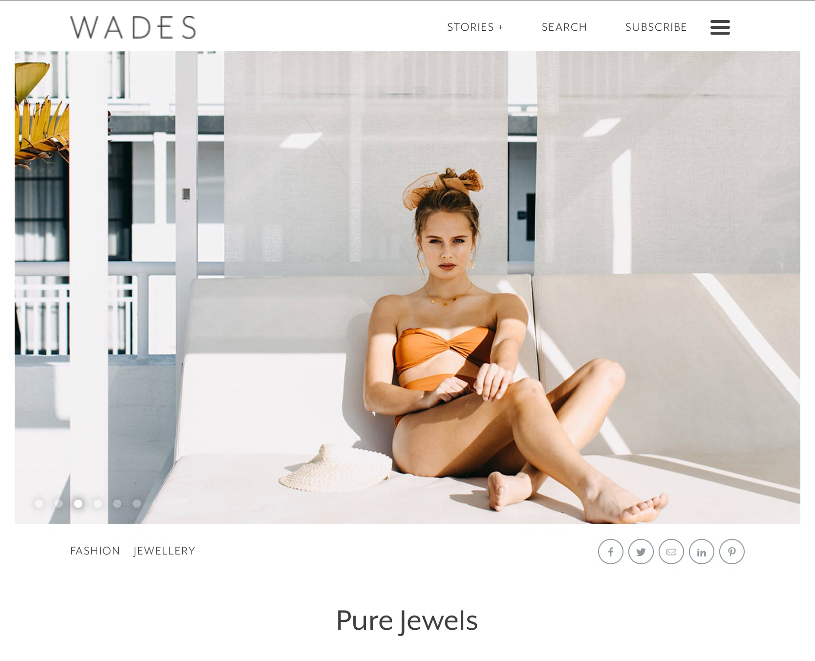 "Featured | WADES ""Pure Jewels"""