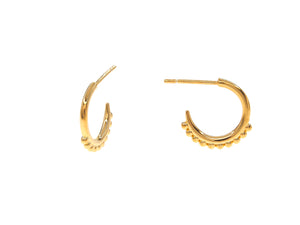 Positano Half Hoops - Yellow Gold