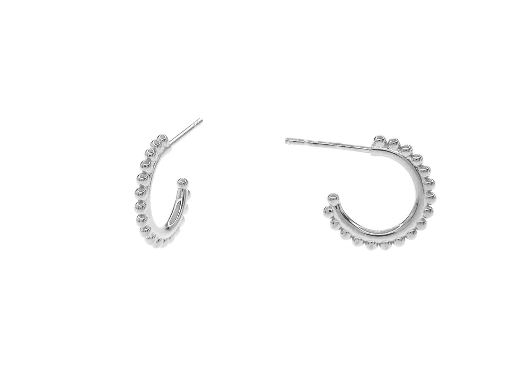 Positano Full Hoops - Silver (Rhodium Plated)
