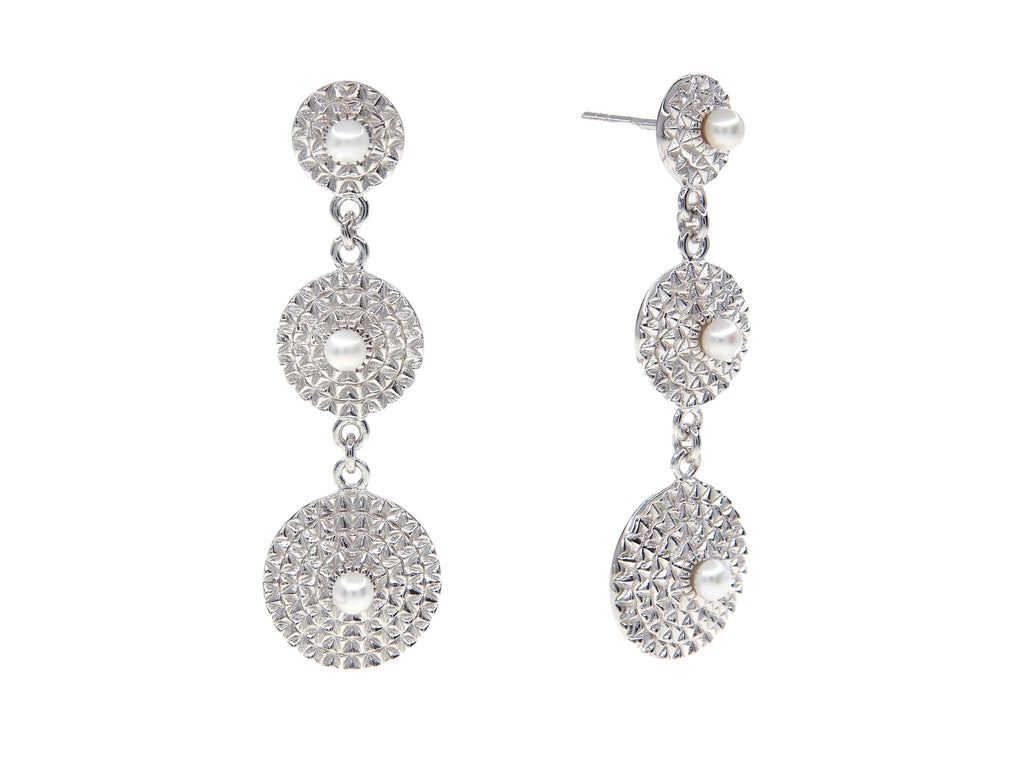 Capri Earrings - Silver (Rhodium Plated)