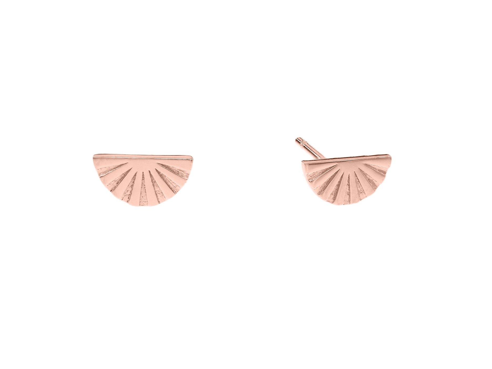 Joan of Ark mini studs, sterling silver, rose gold plated