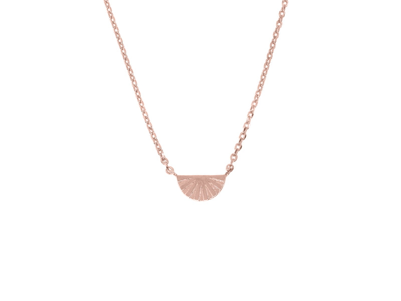 Joan of Ark necklace, sterling silver, rose gold plated