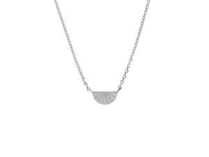 Joan of Ark necklace, sterling silver, rhodium plated