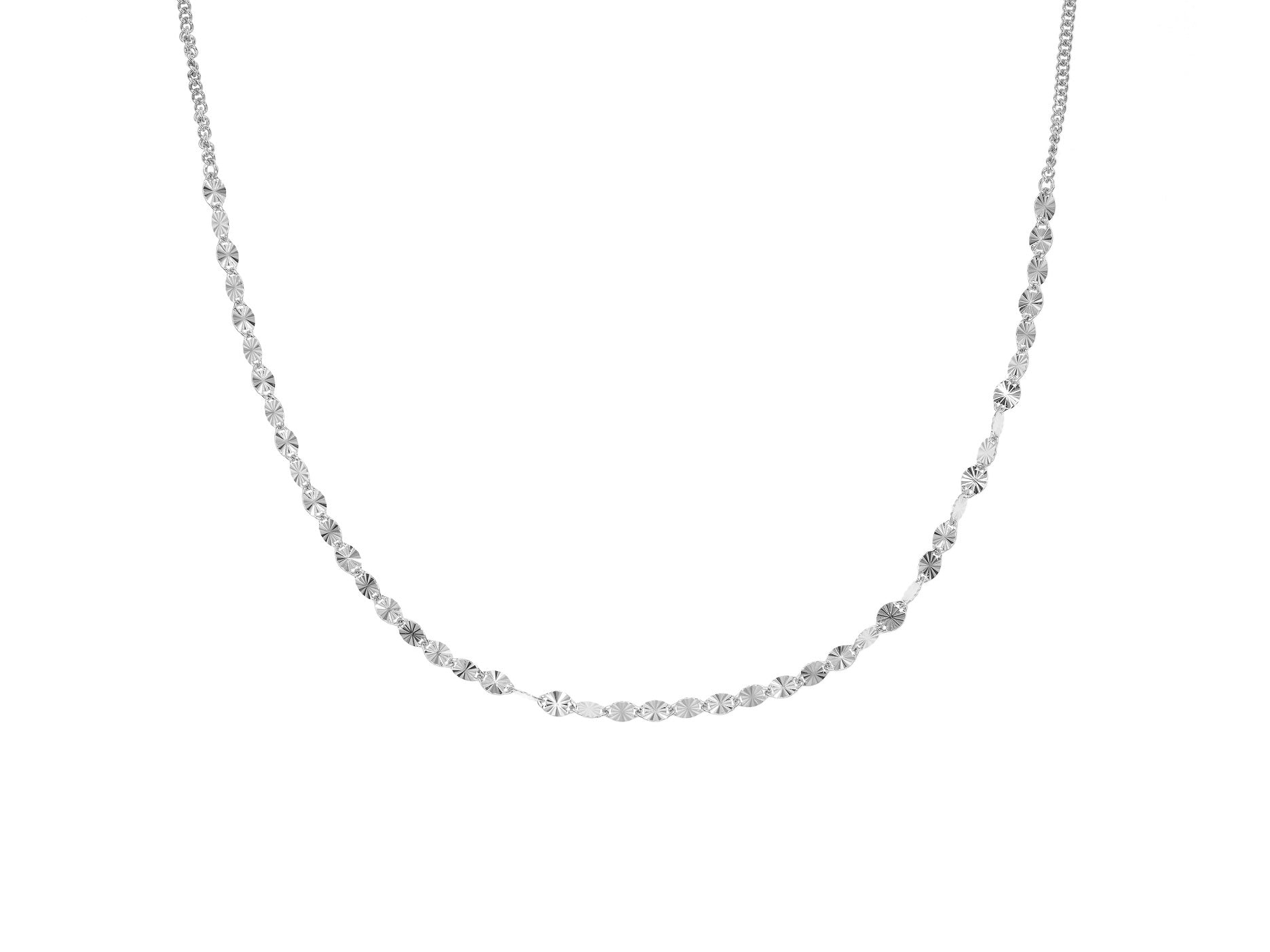 Juliet choker, sterling silver, rhodium plated