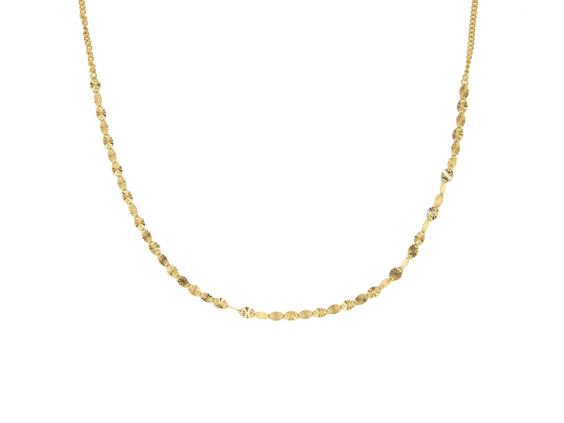 Juliet choker, sterling silver, yellow gold plated