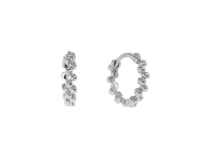 Iris Mini Hoops - Silver (Rhodium Plated)