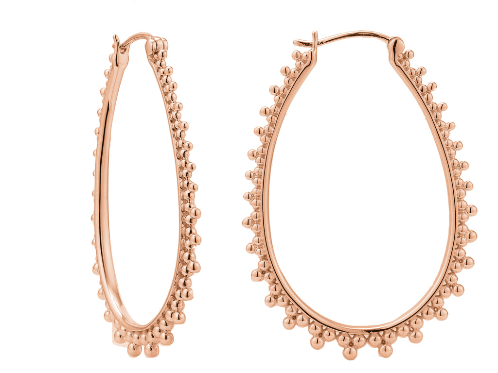 Contessa hoops, sterling silver, rose gold plated