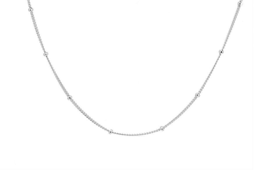 Bobble chain, sterling silver, rhodium plated