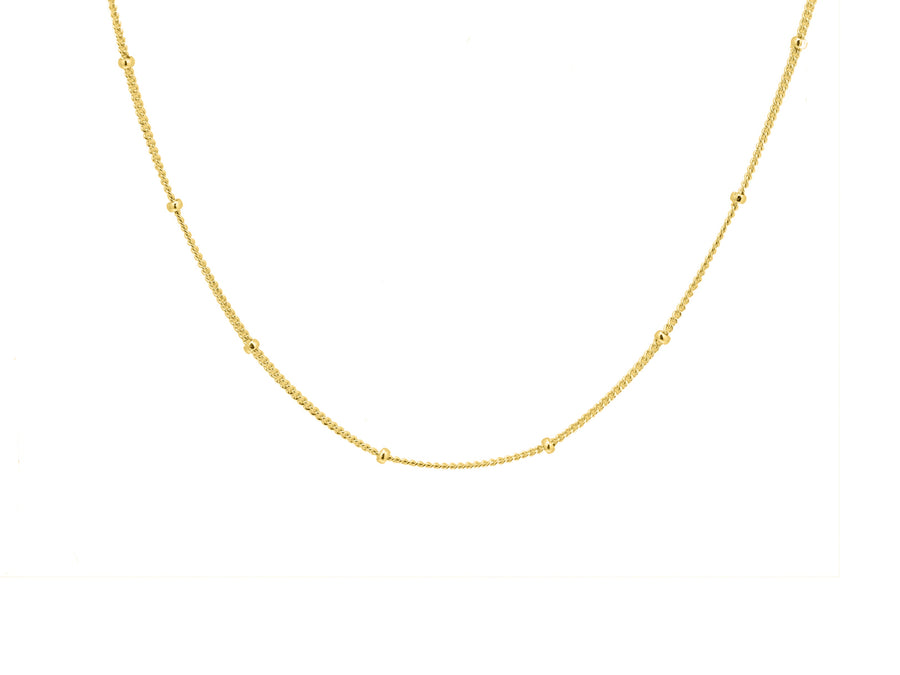 Bobble chain, sterling silver, yellow gold plated