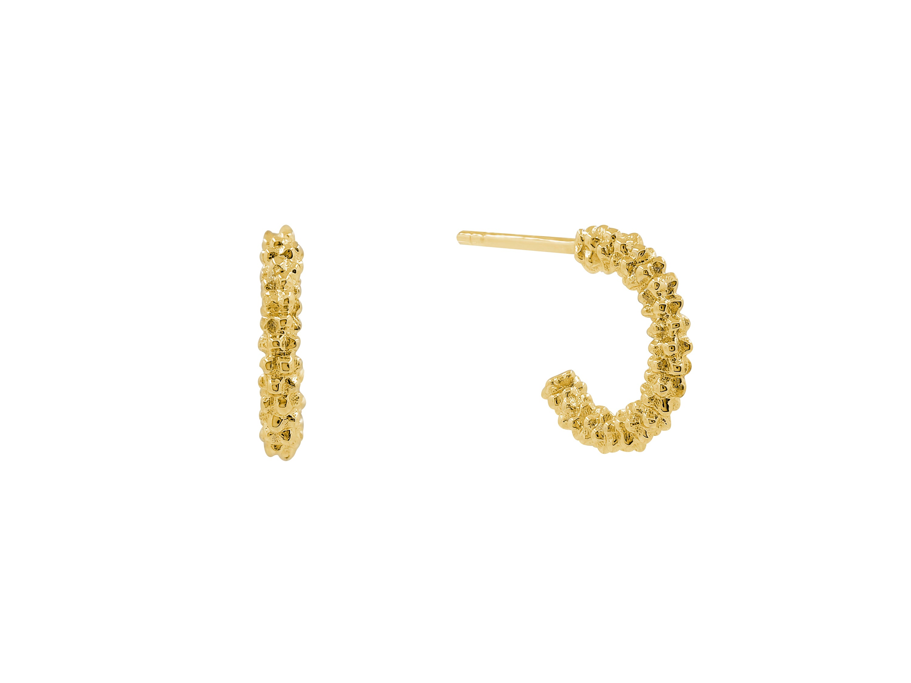 Charmer Hoops - Yellow Gold