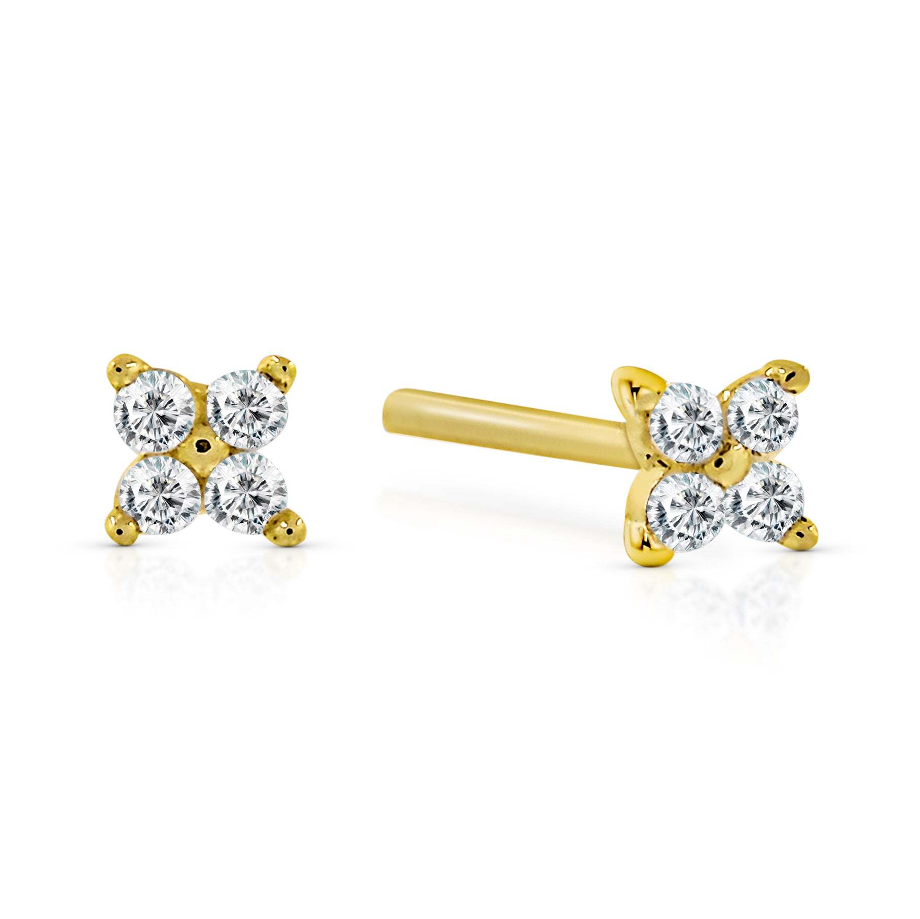 Clover Studs - Yellow Gold
