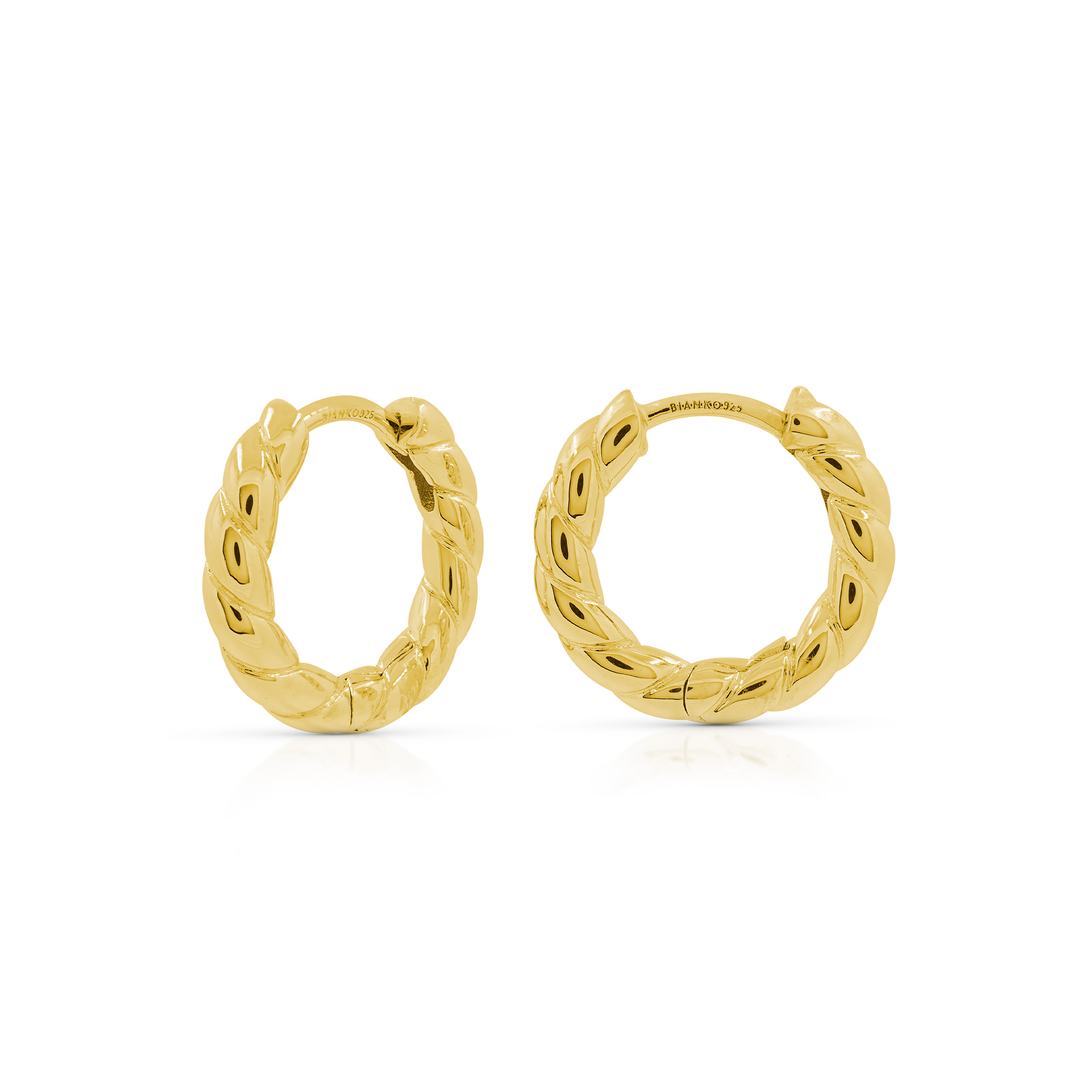 Twist Hoops - Yellow Gold