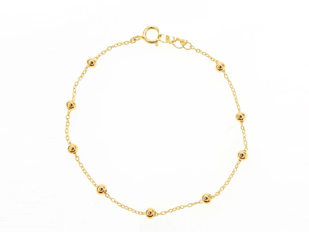 Corfu Anklet - Yellow Gold