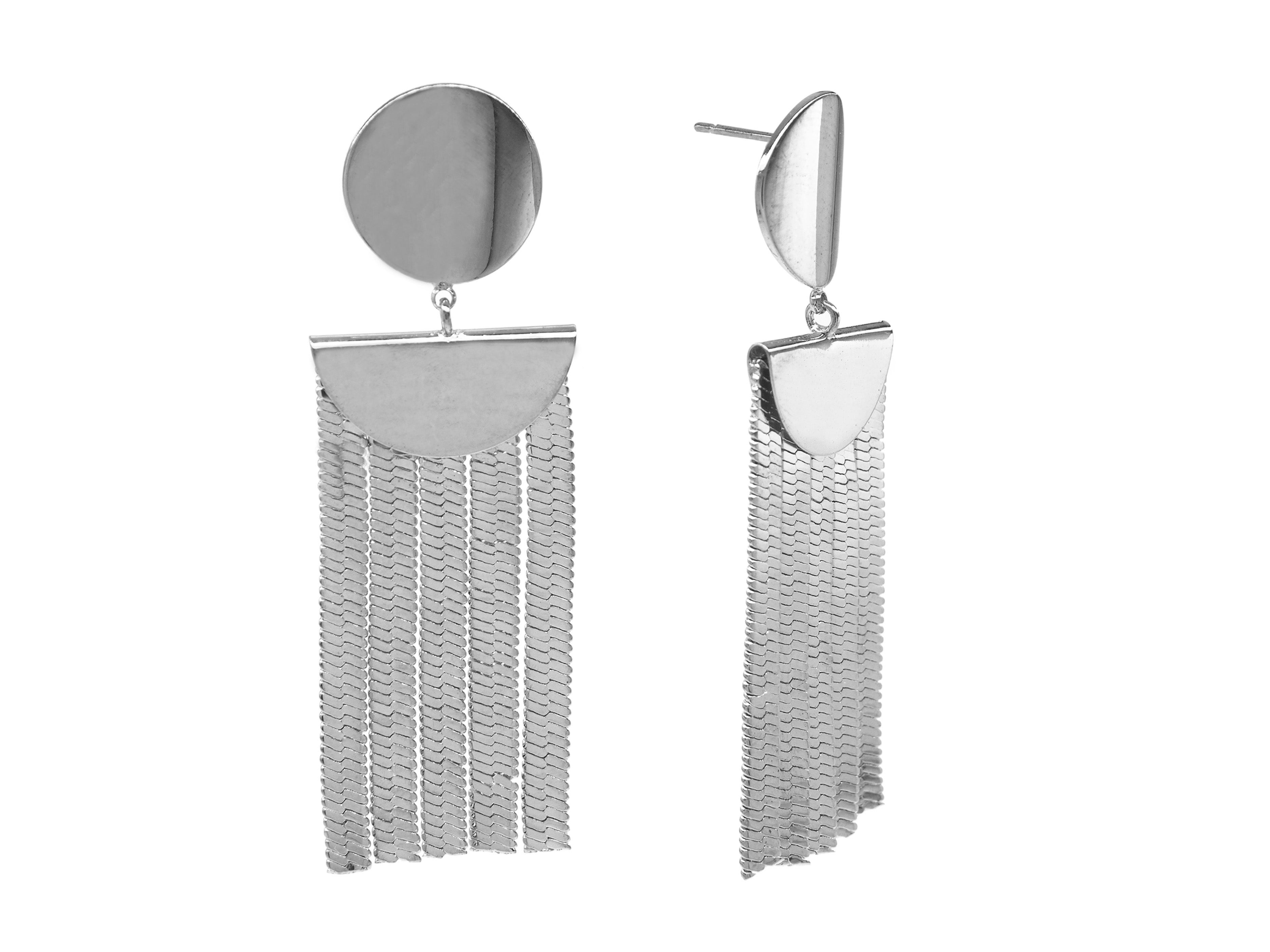 Riviera Earrings - White (Rhodium Plated)