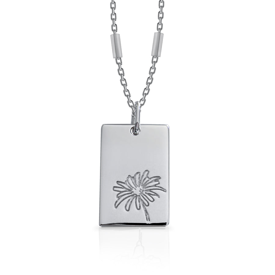 APRIL / Daisy - Silver (Rhodium Plated)