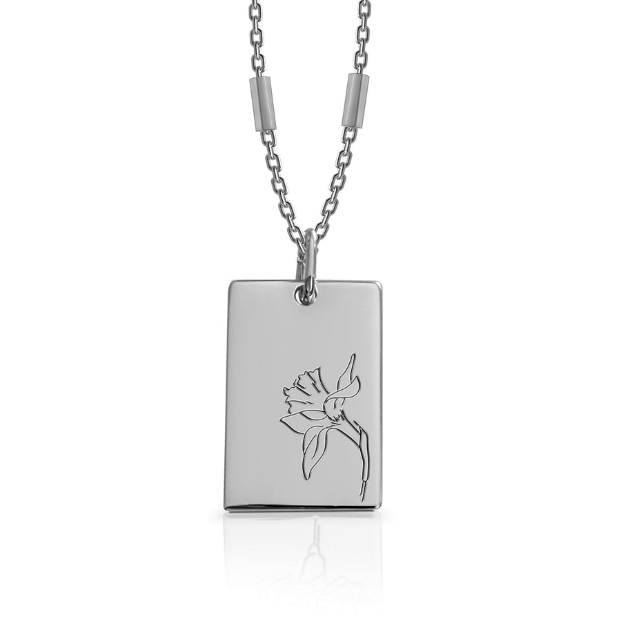 MARCH / Daffodil - Silver (Rhodium Plated)