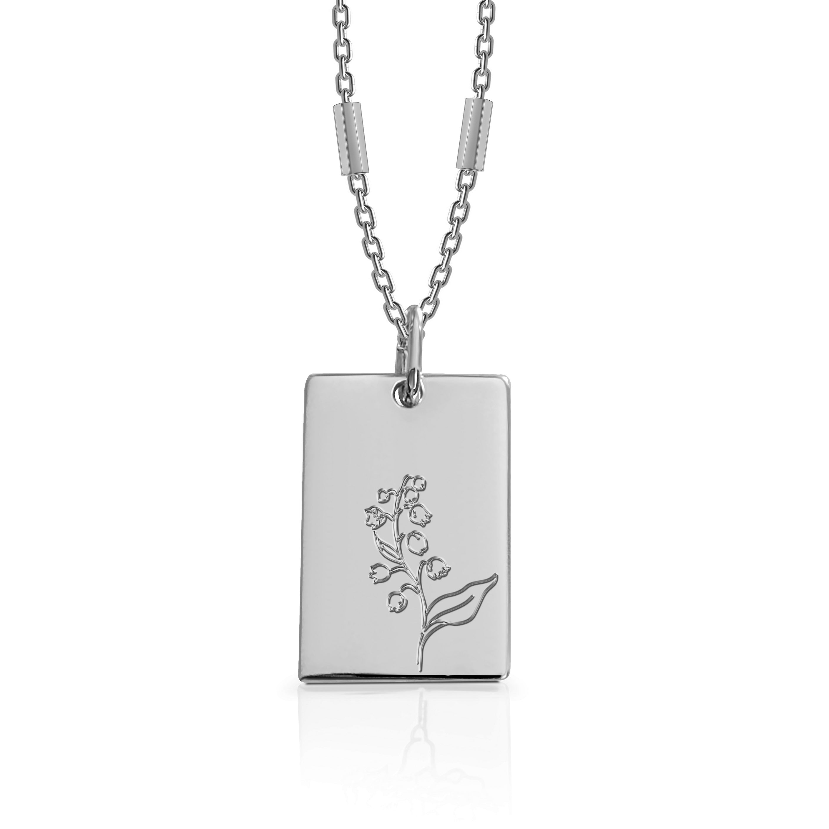 MAY / Lily of the valley - Silver (Rhodium Plated)